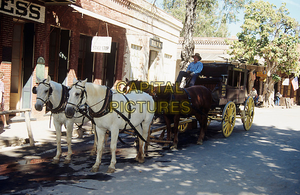 Old antique stagecoach, Columbia State Historic Park, California, USA