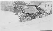 RGS plow-flanger #03 derailed near Stapleton.  Flanger was top-heavy and derailed in same location several times<br /> RGS  Stapleton area, CO  ca 1925