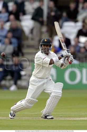 DION EBRAHIM batting for Zimbabwe, England v ZIMBABWE, First test match, NPower test series, Lord's, 030523. Photo: Neil Tingle/Action Plus...2003.Cricket.batsman batsmen.