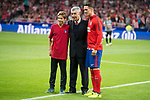 Atletico de Madrid's Hugo, José Eulogio Gárate and Fernando Torres  during La Liga match between Atletico de Madrid and Malaga CF at Wanda Metropolitano in Madrid, Spain September 16, 2017. (ALTERPHOTOS/Borja B.Hojas)