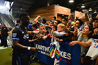 San Jose, CA - Monday July 10, 2017: Simon Dawkins, Fans after a U.S. Open Cup quarterfinal match between the San Jose Earthquakes and the Los Angeles Galaxy at Avaya Stadium.