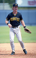 Pittsburgh Pirates Steve Buechele during spring training circa 1992 at Chain of Lakes Park in Winter Haven, Florida.  (MJA/Four Seam Images)