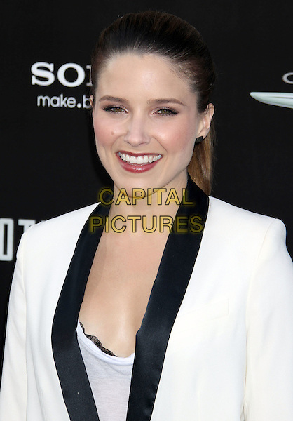 Sophia Bush.Premiere of 'Total Recall' held at The Grauman's Chinese Theatre in Hollywood, California, USA..August 1st, 2012.headshot portrait black white blazer lapels .CAP/ADM/RE.©Russ Elliot/AdMedia/Capital Pictures.