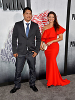 "LOS ANGELES, CA. August 28, 2018: Johnny Ortiz & Diana Hernandez at the world premiere of ""Peppermint"" at the Regal LA Live."