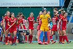 Mannheim, Germany, September 29: During the 1. Bundesliga women fieldhockey match between Mannheimer HC (red) and Zehlendorfer Wespen (white) on September 29, 2019 at Am Neckarkanal in Mannheim, Germany. Final score 5-1 (HT 1-1). (worldsportpics Copyright Dirk Markgraf) ***