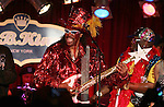 "June 26, 2011 New York: Singer / Musician Bootsy Collins performs ""BB King's Bar and Grill"" on June 26, 2011 in New York."