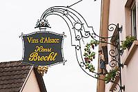 wrought iron sign henri brecht eguisheim alsace france