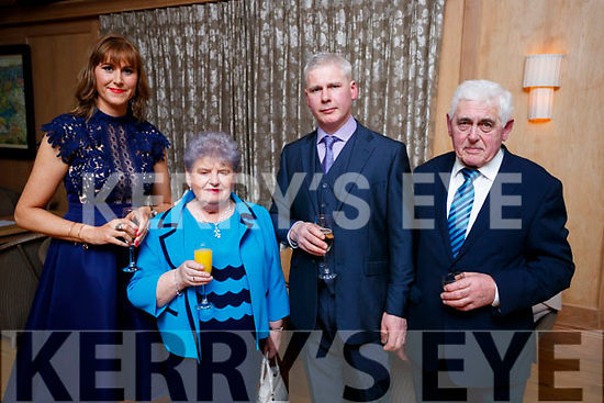 Siobhan Sheehy Slattery, Mary Slattery, Tom Slattery and John Slattery, Lisloose, Tralee, enjoying the Lee Strand Social, at Ballygarry House Hotel & Spa, Tralee, on Saturday night last
