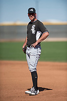 Chicago White Sox first baseman Casey Gillaspie (20) during a Minor League Spring Training game against the Cincinnati Reds at the Cincinnati Reds Training Complex on March 28, 2018 in Goodyear, Arizona. (Zachary Lucy/Four Seam Images)