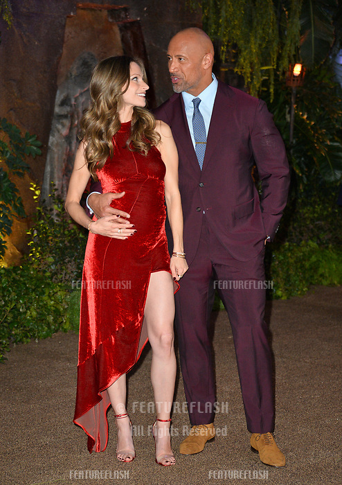 "Dwayne Johnson & Lauren Hashian at the Los Angeles premiere of ""Jumanji: Welcome To the Jungle"" at the TCL Chinese Theatre, Hollywood, USA 11 Dec. 2017<br /> Picture: Paul Smith/Featureflash/SilverHub 0208 004 5359 sales@silverhubmedia.com"