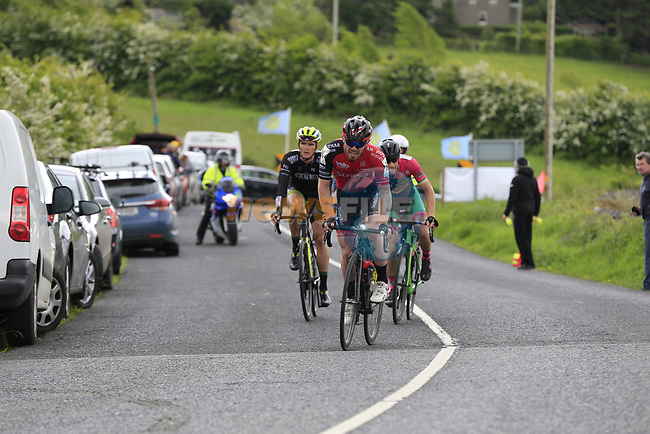 The 2nd breakaway group led by Simon Ryan (Cork<br /> Strata3/VeloRevolution) on the first Cat 3 climb Loughcrew during Stage 1 of the 2017 An Post Ras running 146.1km from Dublin Castle to Longford, Ireland. 21st May 2017.<br /> Picture: Eoin Clarke | Cyclefile<br /> <br /> <br /> All photos usage must carry mandatory copyright credit (&copy; Cyclefile | Eoin Clarke)