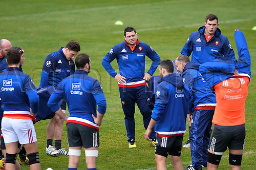 23.02.2016. CNR Marcoussis, Paris, France. The French nationaol rugby team at practise before their 6 Nations game against Wales on 25th February 2016.  Guilhem Guirado (fra)
