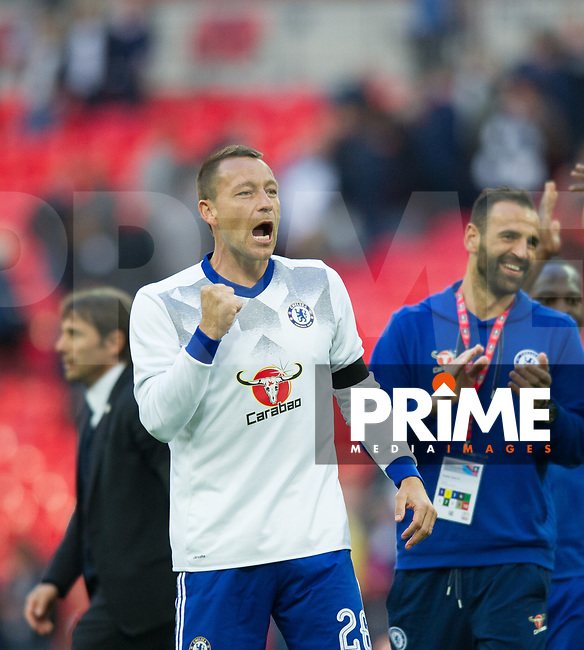 Chelsea's John Terry after  the FA Cup Semi Final match between Chelsea and Tottenham Hotspur at Wembley Stadium, London, England on 22 April 2017. Photo by Andrew Aleksiejczuk / PRiME Media Images.