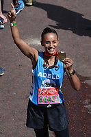 Adele Roberts at the finish line on The Mall at the 2017 London Marathon, London, UK. <br /> 23 April  2017<br /> Picture: Steve Vas/Featureflash/SilverHub 0208 004 5359 sales@silverhubmedia.com