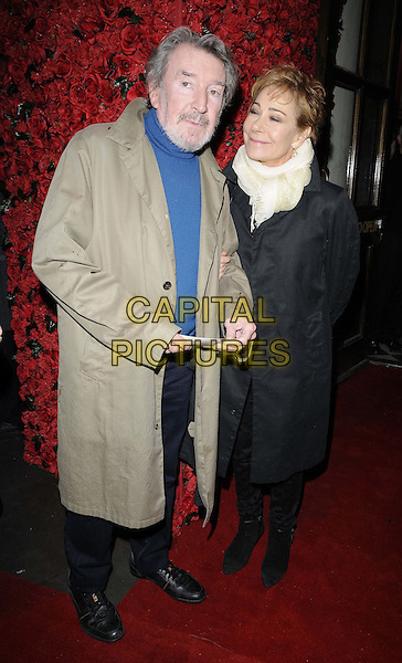 LONDON, ENGLAND - JANUARY 12: Gawn Grainger &amp; Zoe Wanamaker attend the &quot;Women on the Verge of a Nervous Breakdown&quot; press night, Playhouse Theatre, Northumberland Avnue, on Monday January 12, 2015 in London, England, UK. <br /> CAP/CAN<br /> &copy;Can Nguyen/Capital Pictures