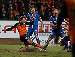 Ryan McGowan scores to equalise for Dundee Utd