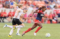 Houston, TX - Sunday Oct. 09, 2016: McCall Zerboni, Francisca Ordega during the National Women's Soccer League (NWSL) Championship match between the Washington Spirit and the Western New York Flash at BBVA Compass Stadium. The Western New York Flash win 3-2 on penalty kicks after playing to a 2-2 tie.