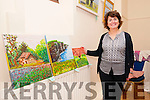 Ballybunion Active Retirement Annual Exhibition : Pictured at the Ballybunion Active Retirement Association annual Arts & Crafts exhibition held in the old convent chapel on Doon Rd. on Sunday last was Estella Perez with some of her paintings.