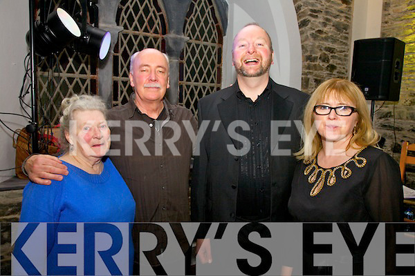 At the Sigerson Clifford Centenary celebration in the Old Oratory Cahersiveen on Saturday night last were l-r; Barbra Gloinson, Tim Dennehy, Stephen McCrohan & Eimear Ring.