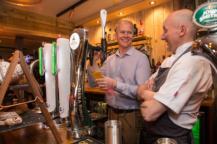 David Hage (left) and Mark Osborne of The Railway, Lowdham, Nottingham