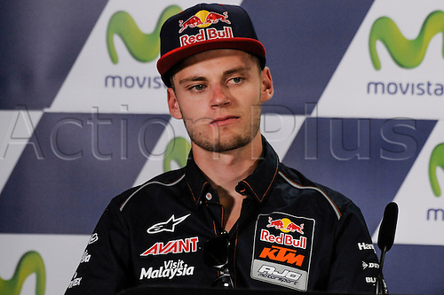 22.09.2016. Motorland Aragon, Alcaniz, Spain. Grand Prix of Aragon. Press Conference day, Brad Binder during the press conference.