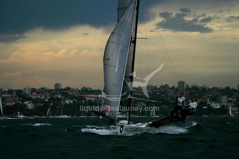 Day six of the JJ Giltinan 18 Ft Skiff championship 2007 in the Sydney Harbour..