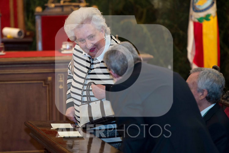 Pilar de Borbon attends to deliver to his Highness the Princess Margarita of the gold medal of the Royal National Academy of Medicine in Madrid, May 08, 2017. Spain.<br /> (ALTERPHOTOS/BorjaB.Hojas)
