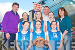 TRALEE IMPERIALS: Member's of Tralee Imperials Basket Club who will host a All Ireland Basketball Blitz this weekend with Denis Ryan proprietor of Four Star pizza sponsor of the tournament on Monday front l-r: Cliona Hayes, Shauna Hanafin and Sinead Brosnan. Back l-r: Denis Ryan (Four star Pizza), Ciara Kilgannon, Caoimhe Crowe, Nigel Crowe (chairman Tralee Imperials), Courtney Ryan and Carmelita Ryan (assistant coach).