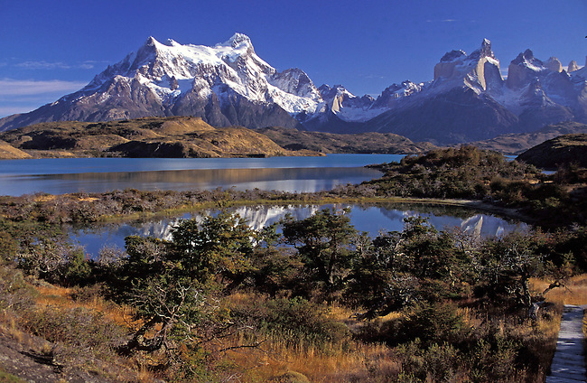 Patagonie, parc National Torrese del Paine. *** Torrese del Paine National park, Patagonia.
