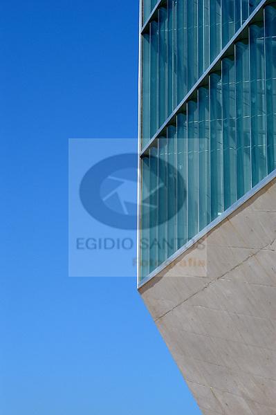 Casa da Musica, in Porto. Design by Rem Koolhaas.
