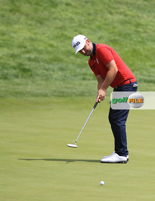 Andy Sullivan (ENG) on the 7th green during Round 3 of the 100th Open de France, played at Le Golf National, Guyancourt, Paris, France. 02/07/2016. <br /> Picture: Thos Caffrey   Golffile<br /> <br /> All photos usage must carry mandatory copyright credit   (&copy; Golffile   Thos Caffrey)