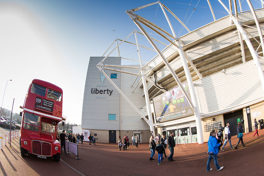 A general view of Liberty Stadium, home of Ospreys<br /> <br /> Photographer Simon King/CameraSport<br /> <br /> Guinness PRO12 Round 15 - Ospreys v Munster - Saturday 18th February 2017 - Liberty Stadium - Swansea<br /> <br /> World Copyright &copy; 2017 CameraSport. All rights reserved. 43 Linden Ave. Countesthorpe. Leicester. England. LE8 5PG - Tel: +44 (0) 116 277 4147 - admin@camerasport.com - www.camerasport.com