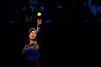 30th January 2020; Melbourne Park, Melbourne, Victoria, Australia; Australian Open Tennis, Day 11; Garbine Muguruza of Spain serves the ball during the semifinals of the 2020 Australian Open on January 30 2020, at Melbourne Park in Melbourne, Australia. (Photo by Jason Heidrich/Icon Sportswire)
