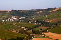 Vineyard. View of Chavignol from Sancerre village.