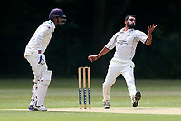 Z Shahzad in bowling action for  Wanstead during Wanstead and Snaresbrook CC vs Ilford CC, Shepherd Neame Essex League Cricket at Overton Drive on 17th June 2017