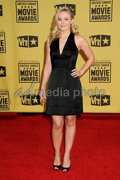 15 January 2010 - Hollywood, California - Kristen Bell. 15th Annual Critics' Choice Movie Awards - Arrivals held at the Hollywood Palladium. Photo Credit: Byron Purvis/AdMedia