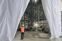 - Milano, cantiere per  l'Esposizione Mondiale Expo 2015, &quot;Padiglione Zero&quot;<br />