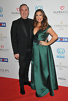 Nick Ede and iMaria Bravo at the Football For Peace Initiative Dinner by Global Gift Foundation, Corinthia Hotel, Whitehall Place, London, England, UK, on Monday 08th April 2019.<br /> CAP/CAN<br /> &copy;CAN/Capital Pictures