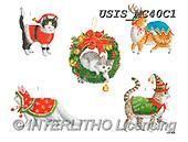 Ingrid, CHRISTMAS SYMBOLS, WEIHNACHTEN SYMBOLE, NAVIDAD SÍMBOLOS,stickers,cats, paintings+++++,USISMC40C1,#xx#