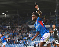 Ellis Harrison of Portsmouth scores the first goal and celebrates during Portsmouth vs Birmingham City, Caraboa Cup Football at Fratton Park on 6th August 2019