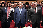Palestinian President Mahmoud Abbas, Jordanian King Abdullah II and Jordanian Crown Prince Hussein attend churches celebrate on the occasion of the holiday of Christmas, in Amman, Jordan on December 18, 2018. Photo by Thaer Ganaim