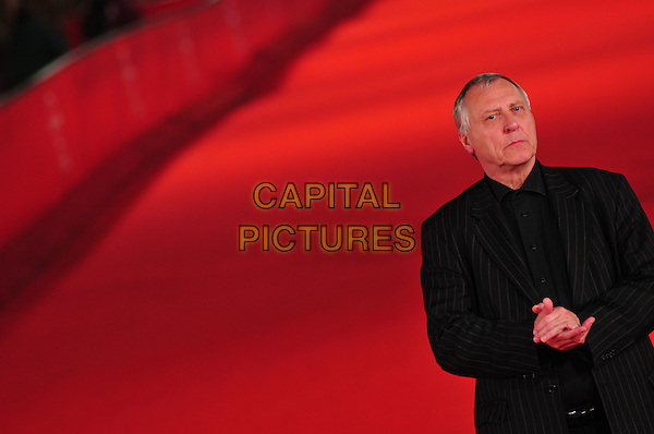 PETER GREENWAY.The Rembrandt's J'Accuse Premiere during the 3rd Rome International Film Festival, Auditorium Parco della Musica, Rome, Italy..October 23rd, 2008.half length black suit jacket hands.CAP/CAV.©Luca Cavallari/Capital Pictures.