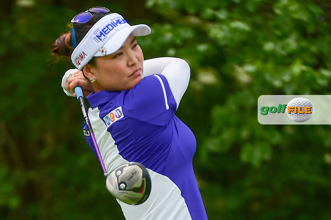 So Yeon Ryu (KOR) watches her tee shot on 11 during Thursday's round 1 of the 2017 KPMG Women's PGA Championship, at Olympia Fields Country Club, Olympia Fields, Illinois. 6/29/2017.<br /> Picture: Golffile | Ken Murray<br /> <br /> <br /> All photo usage must carry mandatory copyright credit (&copy; Golffile | Ken Murray)