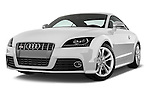 Low aggressive front three quarter view of a 2008 - 2010 Audi TTS 3 Door Coupe 2WD