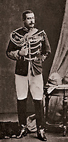 BNPS.co.uk (01202 558833)<br /> Pic:  Dukes/BNPS<br /> <br /> Major General Reginald Sartorius - won his VC rescuing a wounded soldier under heavy fire in the 1874 Ashanti campaign.<br /> <br /> The extraordinary story of two hero brothers who both received the Victoria Cross can be told after their bravery medals emerged for sale.<br /> <br /> Major General Reginald Sartorius was awarded the highest honour for gallantry after he rescued a wounded comrade under heavy fire during an African campaign in 1874.<br /> <br /> Major General Euston Sartorius followed in his footsteps five years later, earning a VC for leading his men in a daring offensive on a heavily guarded hill in Afghanistan, overcoming seemingly insurmountable odds. His small force engaged in a sword fight with the 'fanatical' enemy atop the hill, slaying seven of them.<br /> <br /> They are one of just four sets of brothers who have received VCs since the award was introduced by Queen Victoria in 1856 to honour acts of bravery during the Crimean War.<br /> <br /> The miniatures of their VCs are being sold by their descendants with auction house Dukes, of Dorchester, Dorset, who expect them to fetch £20,000.