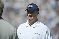15 September 2012:  Penn State coach Bill O'Brien smiles..The Penn State Nittany Lions defeated the Navy Midshipmen 34-7 at Beaver Stadium in State College, PA..