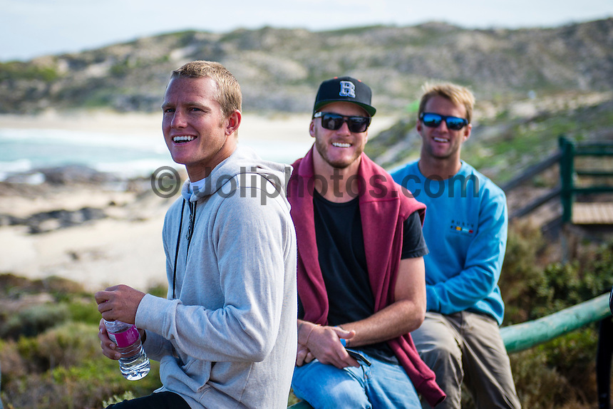 "Caves House Yallingup, Western Australia (Thursday, March 22, 2013) Dusty Payne (HAW), Ryan Butt (AUS) and Josh Kerr (AUS).- .Over 60 metres of red carpet greeted the  1300 guests at the Australian premiere of the surfing movie, Drift, which was shot in Margaret River region and  screened under the stars at Caves House, Yallingup last night...The movie's major celebrity  Sam Worthington was absent from the opening but other big names including Xavier Samuel, fresh from his turn in the Twilight saga, and former McLeod's Daughters actor  Myles Pollard enjoyed the red carpet attention...The premiere will took the film back to its roots in WA's rugged and beautiful South-west region, with a large outdoor screening for over 1,300 people  held in the historic gardens at Caves House in Yallingup. .Drift - A story of passion, corruption, friendship and loyalty, deadly addictions and fractured relationships, tells a tale of courage and the will to survive at all odds...The Australian premiere of Drift was a proud moment for two of the film's West Australian producers, Tim Duffy and Myles Pollard...Myles, who also plays a leading character in the film, was excited to premiere the film to the local community...""We are ecstatic that the Australian premiere of Drift is happening in the South-west. We have enormous respect for the local community that supported the movie and we're so happy to bring the spotlight back to the region for what promises to be a memorable and historical event,"" he said...Walking the red carpet were the film's cast, co-directors Morgan O'Neill and Ben Nott, producers Tim Duffy, Myles Pollard and Michele Bennett, local WA crew, local dignitaries and investors, and over 300 extras from the region who feature in Drift...The timing of the premiere coincided with the 2013 Margaret River Pro surfing tournament with many of the world's best surfers attending such as Taj Burrow (AUS), Martin Potter (UK) and former WCT surfer Jake Paterson (AUS)..Drift was shot"