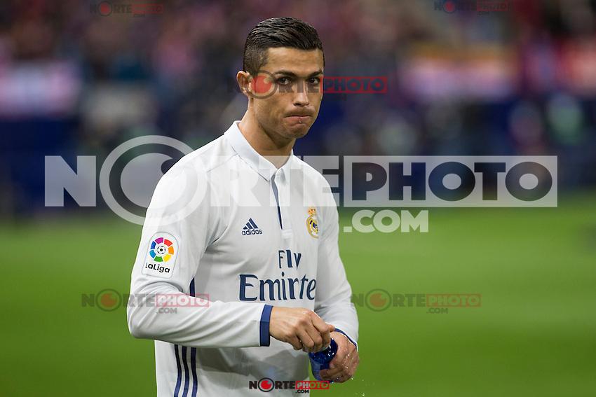 Real Madrid's Cristiano Ronaldo during the match of La Liga between Atletico de Madrid and Real Madrid at Vicente Calderon Stadium  in Madrid , Spain. November 19, 2016. (ALTERPHOTOS/Rodrigo Jimenez) /NORTEPHOTO.COM