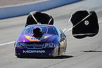 Oct. 29, 2011; Las Vegas, NV, USA: NHRA pro stock driver Vincent Nobile during qualifying for the Big O Tires Nationals at The Strip at Las Vegas Motor Speedway. Mandatory Credit: Mark J. Rebilas-