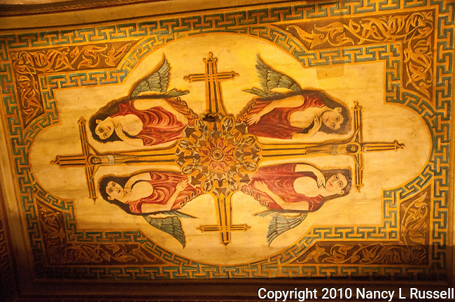 Painted ceiling in the Hanging Church